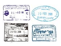 Sellos del pasaporte Foto de archivo libre de regalías