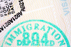 Sellos del pasaporte fotografía de archivo libre de regalías