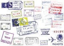 Sellos del pasaporte stock de ilustración