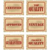 Sellos del producto Imagenes de archivo