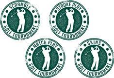 Sellos del torneo del golf Fotografía de archivo