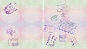 Sellos en un pasaporte