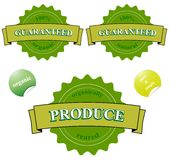 Sellos garantizados el 100% orgánicos Imágenes de archivo libres de regalías