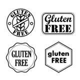 Sellos libres del gluten, insignias, iconos Ilustración del vector ilustración del vector