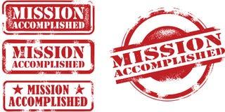 Sellos logrados misión Imagen de archivo