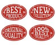 Sellos ovales Imágenes de archivo libres de regalías
