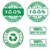 sellos reciclados el 100% Imagen de archivo