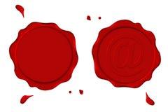 Sellos rojos Fotos de archivo