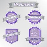 Sellos superiores de la garantía de calidad fijados Fotos de archivo