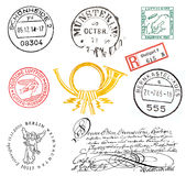 Sellos y escrituras de la etiqueta de Alemania Imágenes de archivo libres de regalías