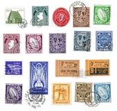 Sellos y escrituras de la etiqueta de Irlanda foto de archivo