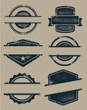 Sellos y escrituras de la etiqueta en blanco de Grunge Imagenes de archivo