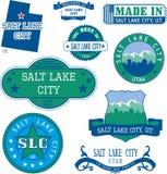 Sellos y muestras genéricos de Salt Lake City, UT Imagenes de archivo