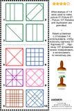 Sellos y rompecabezas de la imagen de las impresiones ilustración del vector