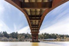 Sellwood桥梁在波特兰俄勒冈 免版税库存照片