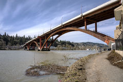 Sellwood bridge in Portland Oregon. Sellwood bridge crossings in Portland Oregon Stock Images