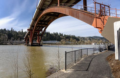 Sellwood bridge in Portland Oregon. Royalty Free Stock Photos