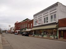 Selma North Carolina North Raiford-Straat Stock Afbeeldingen