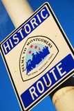 Selma to Montgomery March Route. A road sign marks the route Martin Luther King and his followers took on their march from Selma to Montgomery Alabama Stock Images