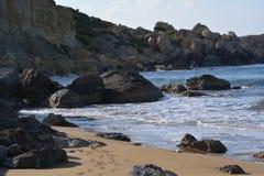 Selmun Bay (Imġiebaħ Bay). Calm Mediterranean Sea on Selmun Bay - Malta, nice clear day Royalty Free Stock Photo