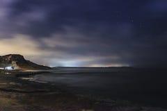 Selmun Bay by Night Stock Image