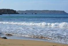 Selmunbaai (de Baai van ImÄ ¡ iebaħ) Stock Foto