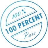 Selo 100% puro Fotografia de Stock