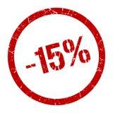 -15% selo ilustração do vetor