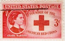 Selo 1943 de porte postal Clara Barton fotografia de stock royalty free