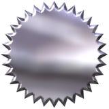 selo 3D de prata ilustração stock