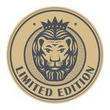 Selo abstrato com Lion Head ilustração do vetor