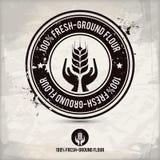 Selo alternativo da farinha da fresco-terra Imagem de Stock Royalty Free