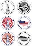 Selo americano ilustração royalty free