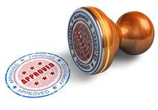Selo aprovado ilustração do vetor