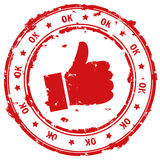 Selo aprovado Fotos de Stock