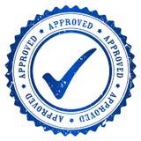 Selo aprovado ilustração stock
