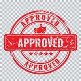 Selo aprovado com efeito velho do grunge do vintage e excluído como uma forma, fácil mudar a cor ilustração do vetor