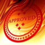 Selo aprovado vermelho Imagens de Stock