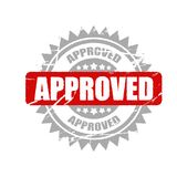 Selo aprovado vetor fundo informativo da ilustração, da propaganda e do mercado Foto de Stock