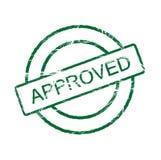 Selo aprovado (vetor incluído) ilustração royalty free
