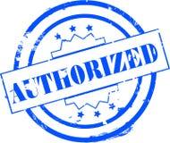 Selo autorizado ilustração stock