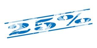 selo azul de 25 por cento Fotos de Stock