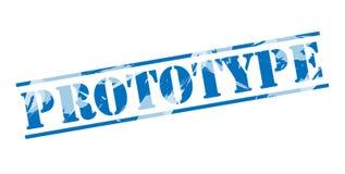 Selo azul do protótipo ilustração stock