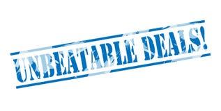 Selo azul dos negócios imbatíveis ilustração stock
