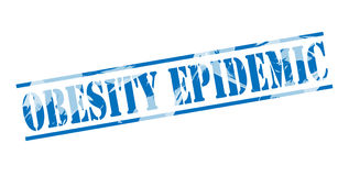 Selo azul epidêmico da obesidade ilustração royalty free