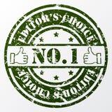 Selo bem escolhido dos editpr envelhecidos Fotografia de Stock