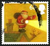 Selo BRITÂNICO do Natal Imagem de Stock
