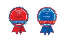 Selo certificado Fotografia de Stock Royalty Free