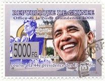 Selo com Barack Obama Imagens de Stock
