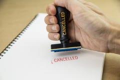 Selo com cancelado no Livro Branco Imagem de Stock Royalty Free